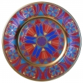"Decorative Wall Plate Mazarin Gothic #7 10.4""/265 mm Lomonosov Imperial Porcelain"