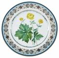 Decorative Wall Plate Trollius Lomonosov Imperial Porcelain