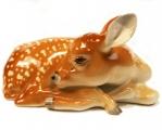 Deer Fawn Young Sleeping Lomonosov Imperial Porcelain Figurine