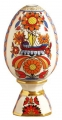 Easter Egg on Stand Bright Ornament Lomonosov Porcelain