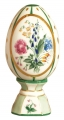 Easter Egg on Stand Buttercup Flowers Lomonosov Imperial Porcelain