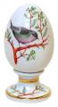 Easter Egg on Stand Chiffchaff Bird Lomonosov Imperial Porcelain