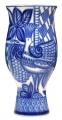 """Flower Vase Blue Bird Lomonosov Imperial Porcelain 9.4"""" tall"""