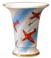 Flower Vase Empire Style Airplanes Lomonosov Imperial Porcelain