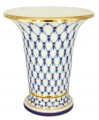 Flower Vase Empire Style Cobalt Net Lomonosov Imperial Porcelain