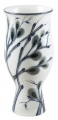 "Flower Vase Willow Lomonosov Imperial Porcelain 9.4"" tall"