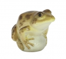 Frog on Rock Brown Colored Lomonosov Imperial Porcelain Figurine