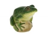 Frog on Rock Green Colored Lomonosov Imperial Porcelain Figurine