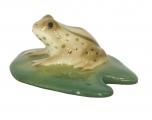 Frog on the Water-Lily Leaf Lomonosov Imperial Porcelain Figurine