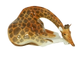Giraffe Figurine with Head Down Lomonosov Porcelain