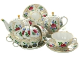 Imperial Lomonosov Porcelain Tea Set 14 items Tulip Golden Grasses for 6 persons
