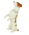 Jack Russell Terrier Dog Lomonosov Porcelain Figurine