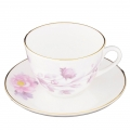 Lomonosov Bone China Cup and Saucer Spring-2 Tender Peony Lilac 8.45 fl.oz 250 ml