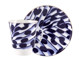 Lomonosov Bone China Porcelain Coffee Cup May Melody 5.6 fl.oz 165 ml 2 pc