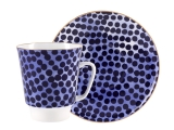 Lomonosov Bone China Porcelain Coffee Cup May Native 5.6 fl.oz 165 ml 2 pc