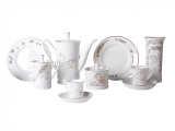 Lomonosov Porcelain Bone China Coffee Set My Happiness 10 items