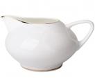Lomonosov Imperial Porcelain Bone China Creamer Dome Golden Ribbon 9.1 fl.oz/270 ml