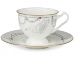 "Lomonosov Imperial Porcelain Bone China Cup and Saucer ""Ballet Swan Lake"""