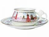 Lomonosov Imperial Porcelain Bone China Cup and Saucer Bilibina Golden Domes