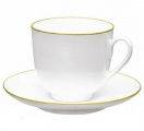Lomonosov Imperial Porcelain Bone China Cup and Saucer