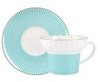 Lomonosov Imperial Porcelain Bone China Espresso Coffee Cup Set Wave Geometry #3 5.24 oz 155 ml