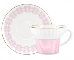 Lomonosov Imperial Porcelain Bone China Espresso Coffee Cup Set Wave Geometry #5 5.24 oz 155 ml