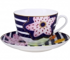 Lomonosov Imperial Porcelain Bone China Tea Set 2 pc Bouquet for Vera Spring-2