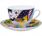 Lomonosov Imperial Porcelain Bone China Tea Set 2pc Bouquet for Julia Spring-2
