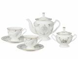 Lomonosov Porcelain Bone China Tea Set 6/14 Swan Lake Ballet