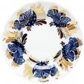 Lomonosov Imperial Porcelain Dessert Plate Golden Garden Cake Tulip