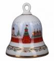 Lomonosov Imperial Porcelain Dinner Bell Moscow Kremlin