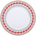 "Lomonosov Imperial Porcelain Dinner Plate Red Reindeer 8.5""/215 mm"
