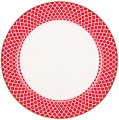 Lomonosov Imperial Porcelain Dinner Plate Scarlet v.1 10.6 in 270 mm