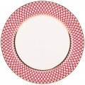 "Lomonosov Imperial Porcelain Dinner Plate Scarlet v.2 10.6""/270 mm"