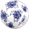 """Lomonosov Imperial Porcelain Flat Dinner Plate Singing Garden 9.4""""/240 mm"""