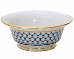 Lomonosov Imperial Porcelain Salad Bowl Cobalt Net (6 serv.) 47.3 fl.oz/1400 ml