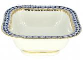 Lomonosov Imperial Porcelain Cobalt Net Salad Bowl (2 serv.) 12 oz / 350 ml
