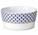 Lomonosov Porcelain Salad Bowl Cobalt Net 54 fl.oz 1600 ml