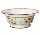 Lomonosov Imperial Porcelain Salad Bowl Jade Background (6 serv.) 47.3 oz/1400 ml