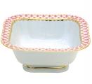Lomonosov Imperial Porcelain Salad Bowl Red Net (1 serv.) 5.75 oz / 170 ml