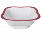 Lomonosov Imperial Porcelain Salad Bowl Red Net (2 serv.) 12 oz / 350 ml