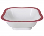Lomonosov Imperial Porcelain Salad Bowl Red Net (4 serv.) 23.7 fl.oz/700 ml