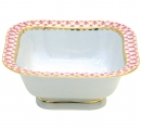 Lomonosov Imperial Porcelain Salad Bowl Red Net (6 serv.) 50.7 fl.oz/1500 ml
