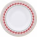 "Lomonosov Imperial Porcelain Soup Plate Red Reindeer 8.9""/225 mm"