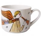 Lomonosov Imperial Porcelain Tea Cup Music of the City 9.5 oz/280 ml