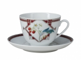 Lomonosov Porcelain Tea Cup Set Spring Sweet Raspberry