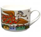 Lomonosov Imperial Porcelain Tea Cup Spring Flight 9.5 oz/280 ml