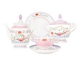 Lomonosov Porcelain Tea Set Alexandria Pheasants 6 persons 20 items