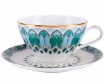 Lomonosov Porcelain Tea Set Cup and Saucer Grace Gothic
