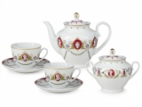 Lomonosov Porcelain Tea Set Spring Cameo 14 items